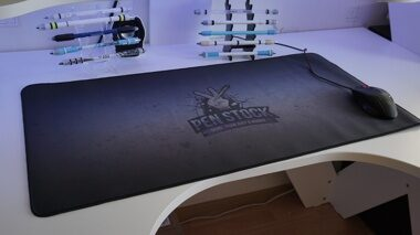 Mat for Pen Spinning grunge logo - 80x40 cm