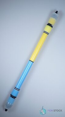 Neo Menowa ST fluorescent grips blue & yellow